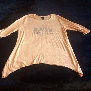 Light knit sweater top plus size 3x rue21 blush